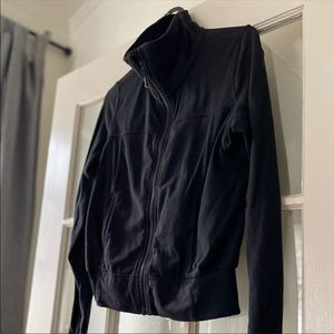 GUC Lululemon Size 6 Running Jacket Black Zip Up